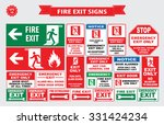 set of emergency exit sign ... | Shutterstock .eps vector #331424234