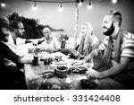 diverse ethnic friendship party ... | Shutterstock . vector #331424408