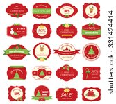 set of christmas label and... | Shutterstock .eps vector #331424414