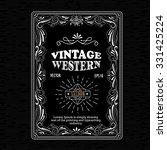 vintage frame border western... | Shutterstock .eps vector #331425224