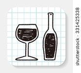 doodle wine | Shutterstock .eps vector #331425338