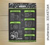 vintage vegetarian food menu... | Shutterstock .eps vector #331437164