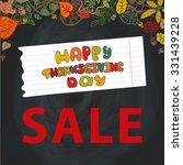 thanksgiving day chalkboard...   Shutterstock .eps vector #331439228