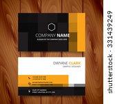 modern pixel business card... | Shutterstock .eps vector #331439249