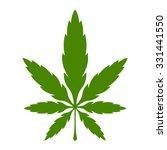 stylized green marijuana pot...   Shutterstock .eps vector #331441550