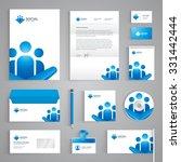 corporate identity branding... | Shutterstock .eps vector #331442444