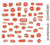 very big set of bright labels... | Shutterstock .eps vector #331445384