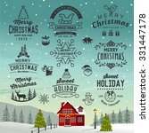 christmas decoration collection ... | Shutterstock .eps vector #331447178