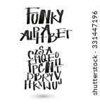 funky alphabet for your design.   Shutterstock .eps vector #331447196