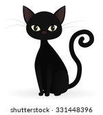 Stock vector black cat 331448396