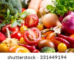 Fresh Vegetables As Background