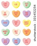 candy hearts | Shutterstock .eps vector #331452254