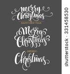merry christmas lettering... | Shutterstock .eps vector #331458530