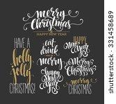 merry christmas lettering... | Shutterstock .eps vector #331458689