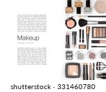 makeup cosmetics and brushes on ... | Shutterstock . vector #331460780