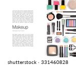 makeup cosmetics and brushes on ... | Shutterstock . vector #331460828