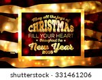 merry christmas and happy new... | Shutterstock .eps vector #331461206
