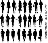 black silhouettes of beautiful... | Shutterstock . vector #331464299
