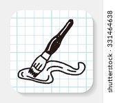doodle brush | Shutterstock .eps vector #331464638