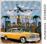 Welcome To Los Angeles Retro...