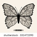 amazing fly butterfly  wildlife ... | Shutterstock .eps vector #331472390