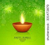 traditional illuminated oil lit ... | Shutterstock .eps vector #331472870