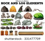 rock and log elements... | Shutterstock .eps vector #331477709