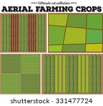 aerial farming crops pattern... | Shutterstock .eps vector #331477724