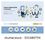 flat line design of web banner... | Shutterstock .eps vector #331480754
