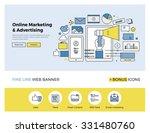 flat line design of web banner... | Shutterstock .eps vector #331480760