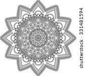 mandala. vintage decorative... | Shutterstock .eps vector #331481594
