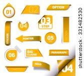 set of orange vector progress... | Shutterstock .eps vector #331482530