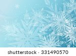 beautiful blue winter background | Shutterstock .eps vector #331490570