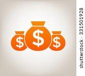 bags of money.   Shutterstock .eps vector #331501928