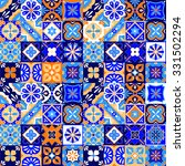 mexican stylized talavera tiles ... | Shutterstock .eps vector #331502294