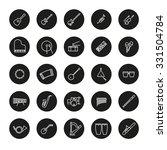 musical instruments round line... | Shutterstock .eps vector #331504784