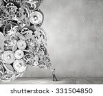 young businessman playing pipe... | Shutterstock . vector #331504850