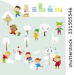 winter fun | Shutterstock .eps vector #331505546