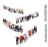 teamwork achievement corporate... | Shutterstock . vector #331505786