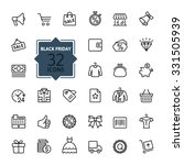 outline icon collection   black ... | Shutterstock .eps vector #331505939