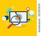 social media flat modern design ... | Shutterstock .eps vector #331507670
