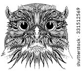 decorative owl bird. graphic... | Shutterstock . vector #331512569