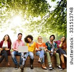 teenagers young team together... | Shutterstock . vector #331513748
