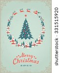 christmas and new year's... | Shutterstock .eps vector #331515920