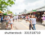 abstract blur tourist shopping... | Shutterstock . vector #331518710
