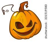 spooky vector halloween jack o... | Shutterstock .eps vector #331519580