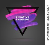creative thinking triangle... | Shutterstock .eps vector #331524374