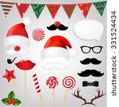 christmas hipster set with... | Shutterstock .eps vector #331524434