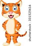 cute tiger cartoon standing  | Shutterstock . vector #331525616