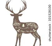 merry christmas reindeer... | Shutterstock .eps vector #331528100
